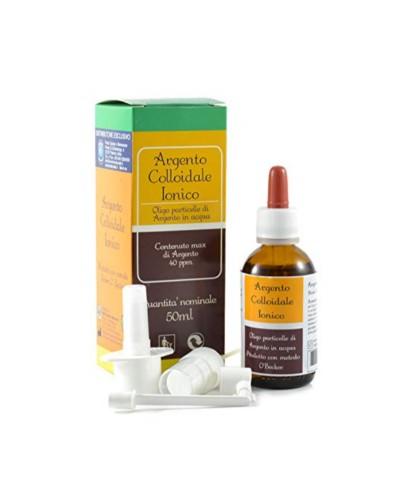 Argento Colloidale Ionico – 50 ml con contagocce e spray naso gola pelle