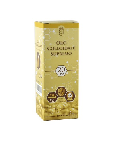 Oro Colloidale Ionico Supremo – 20 ppm 100 ml – Spray e Contagocce