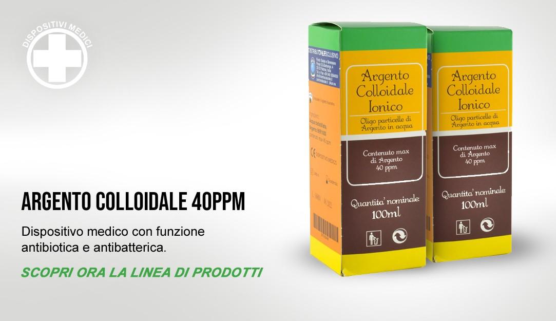 L'Argento Colloidale Ionico è un dispositivo medico con funzione antibiotica e antibatterica.